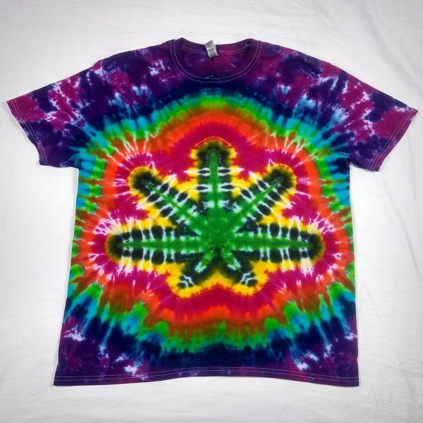 cannabis pot leaf tie dye shirt