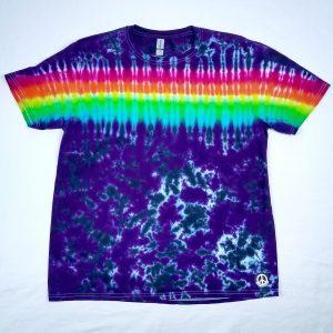 horizontal stripe tie dye t-shirt