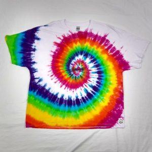white rainbow spiral t-shirt