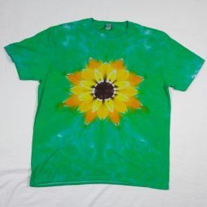 sunflower tie dye t-shirt
