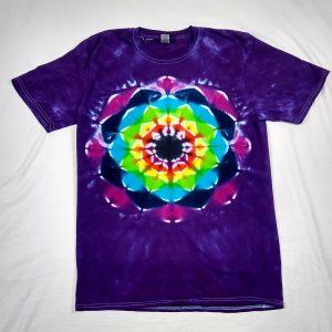 flower lotus tie dye tshirt