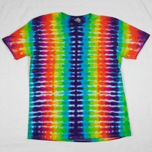 rainbow stripe tie dye tshirt