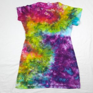 tie dye cotton rainbow t-shirt dress