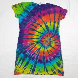 spiral tie dye tshirt dress